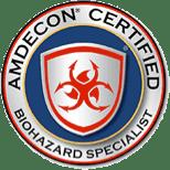 AMDECON Certified Biohazard Specialist Badge