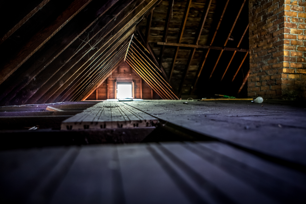 floorboards in house attic