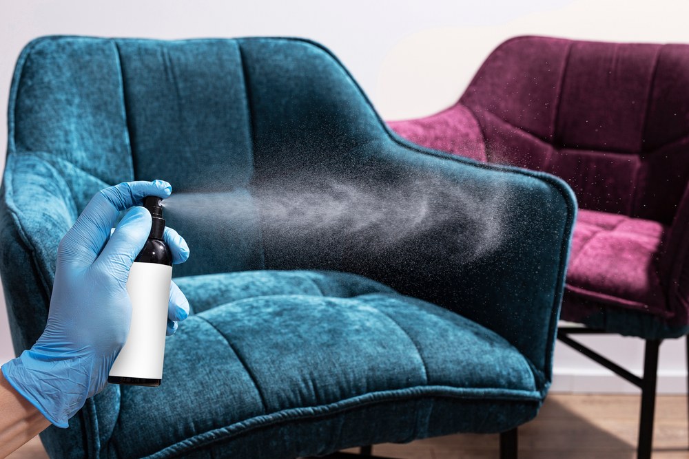 homeowner covers up odor on furniture with chemicals