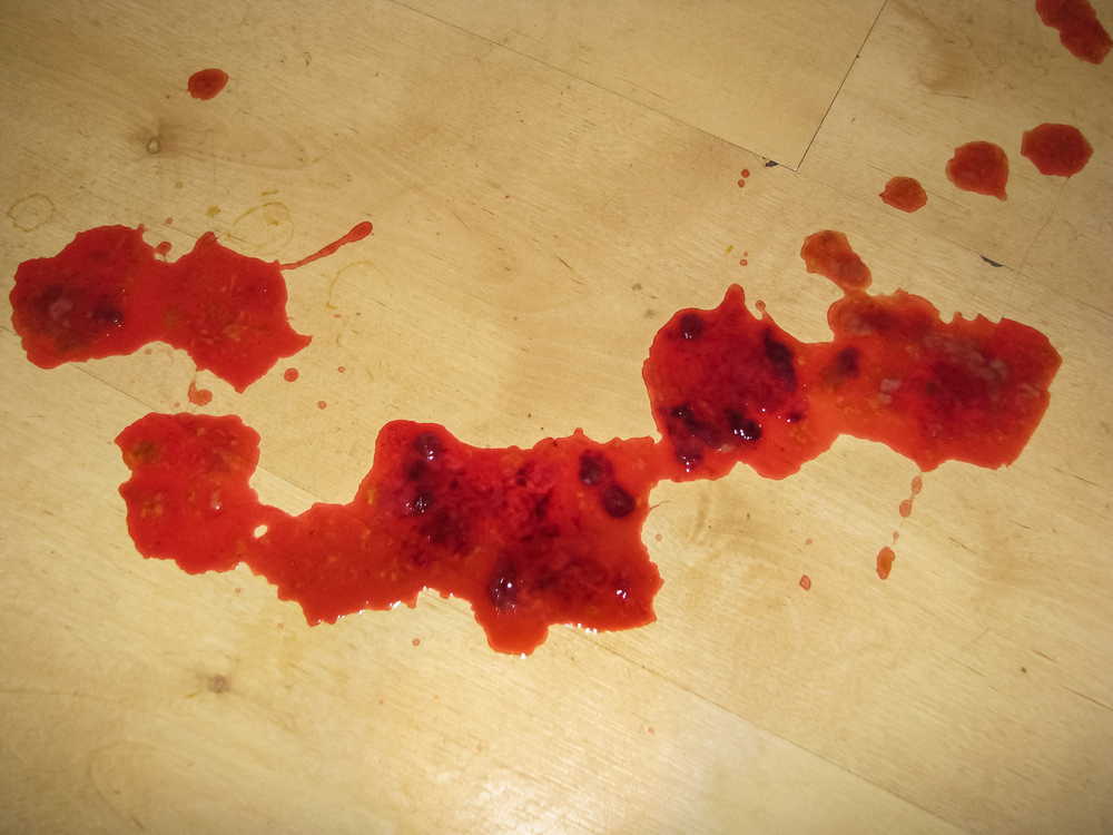 blood on floor extreme cleanup